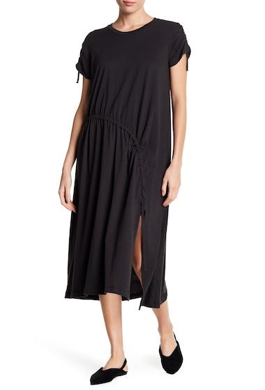 Imbracaminte Femei Lush Ruched Slit Knit Midi Dress CHARCOAL