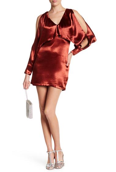 Imbracaminte Femei Lush Cold Shoulder Satin Dress COPPER