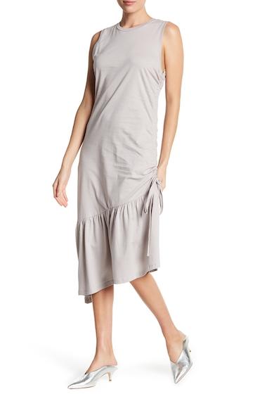 Imbracaminte Femei Lush Asymmetrical Ruffle Ruched Knit Midi Dress CLOUD