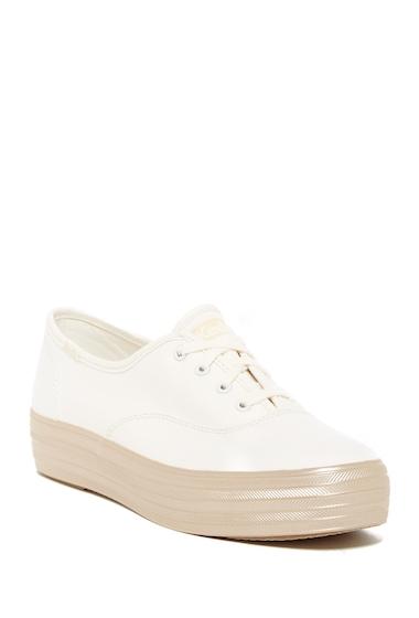 Incaltaminte Femei Keds Triple Shimmer Platform Sneaker WHITEGOLD