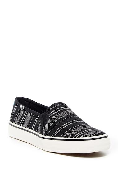 Incaltaminte Femei Keds Double Deck Baja Stripe Slip-On Sneaker BLACK