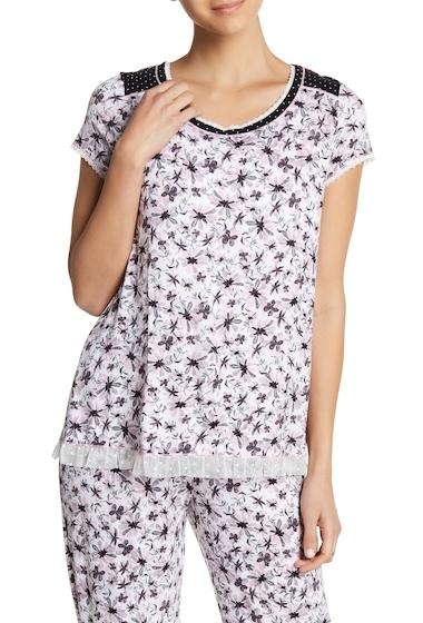 Imbracaminte Femei kensie Short Sleeve Print Sleep Top FLORALPT