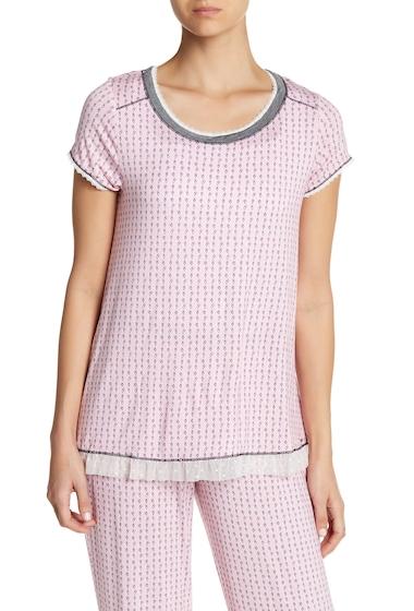 Imbracaminte Femei kensie Short Sleeve Print Sleep Top PINK GEO