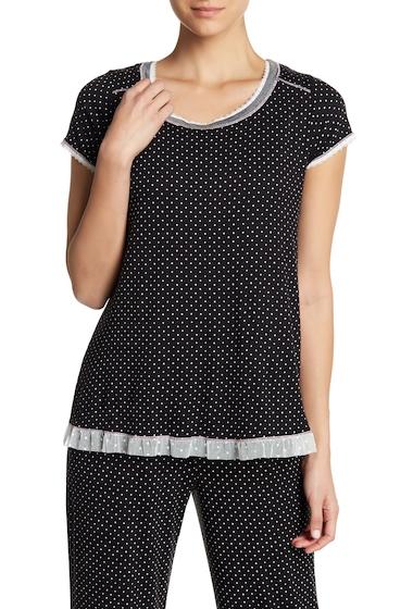 Imbracaminte Femei kensie Short Sleeve Print Sleep Top BLKIVRDOT