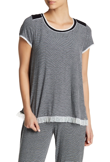 Imbracaminte Femei kensie Short Sleeve Print Sleep Top BLKGDSTP