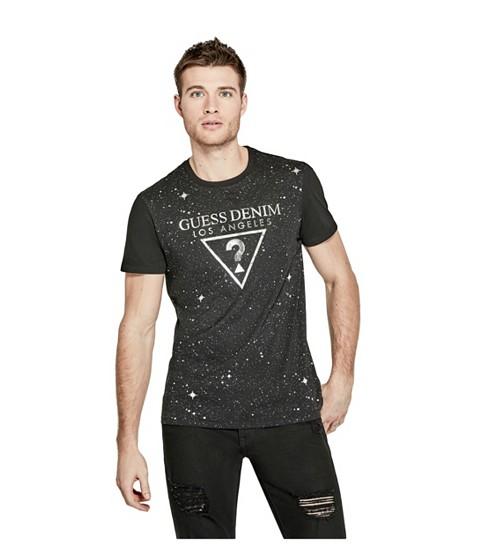 Imbracaminte Barbati GUESS Gorg Star-Print Logo Tee jet black