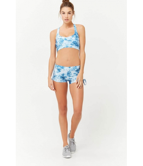 Imbracaminte Femei Forever21 Active Tie-Dye Shorts LIGHT BLUEINDIGO