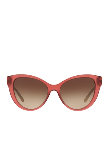 Ochelari Femei Burberry Womens Cat Eye Sunglasses MATTE RED