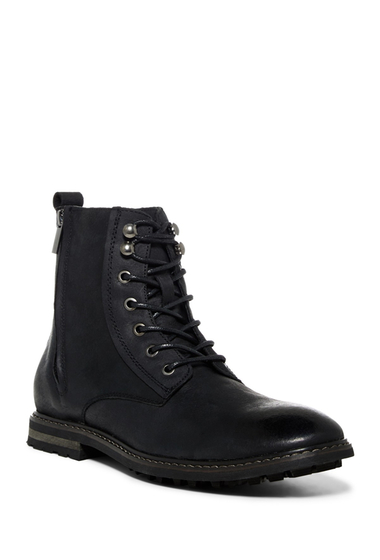 Incaltaminte Barbati Robert Wayne Thomas Lace-Up Zip Boot BLACK