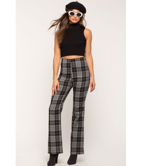 Imbracaminte Femei CheapChic All Business Plaid Flare Pant Black Pattern