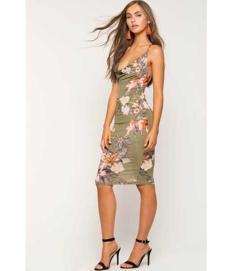 Imbracaminte Femei CheapChic Celeste Floral Bodycon Dress Green Print