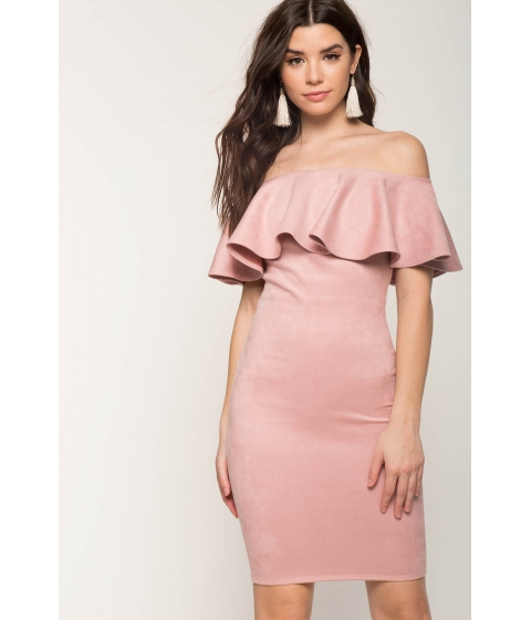 Imbracaminte Femei CheapChic Forever Flounce Suede Dress Blush