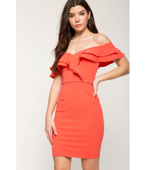 Imbracaminte Femei CheapChic Ruffle Delight Dress Coral