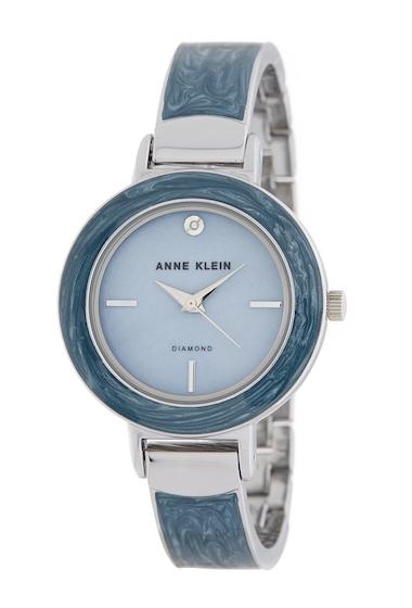 Ceasuri Femei AK Anne Klein Womens Diamond Accent Bangle Watch 34mm NO COLOR