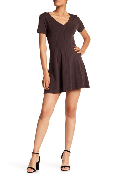 Imbracaminte Femei H By Bordeaux Heavy Jersey Skater Dress HT BARK