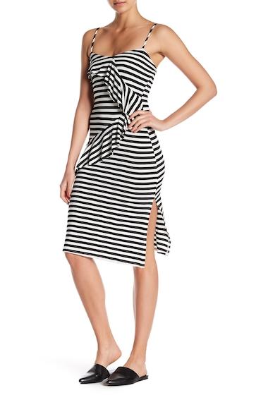Imbracaminte Femei Velvet Torch Striped Ruffle Slip Dress BLACK IVORY
