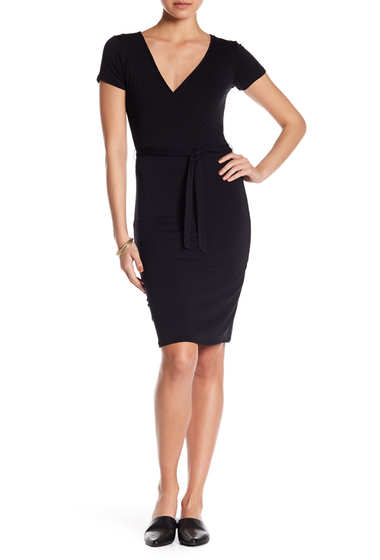 Imbracaminte Femei Velvet Torch Faux Wrap Tee Dress BLACK