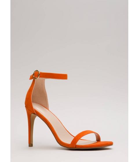 Incaltaminte Femei CheapChic Skinny Dipping Ankle Strap Heels Orange