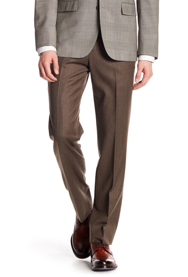 Imbracaminte Barbati Brooks Brothers Classic Fit Wool Trousers - 32 Inseam BROWN