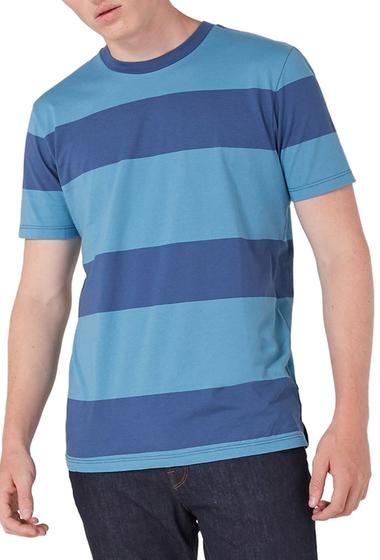 Imbracaminte Barbati TOPMAN Stripe T-Shirt DARK BLUE