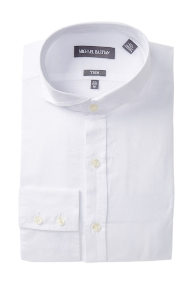 Imbracaminte Barbati MICHAEL BASTIAN Trim Fit Oxford Dress Shirt WHITE