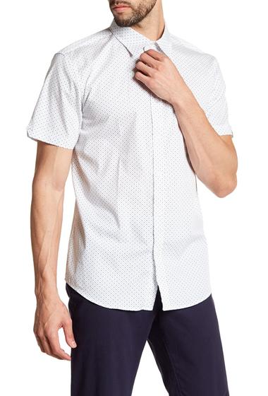 Imbracaminte Barbati Ben Sherman Dot Print Regular Fit Shirt NAVY BLAZER