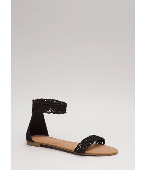 Incaltaminte Femei CheapChic Feeling Gorgeous Faux Suede Sandals Black