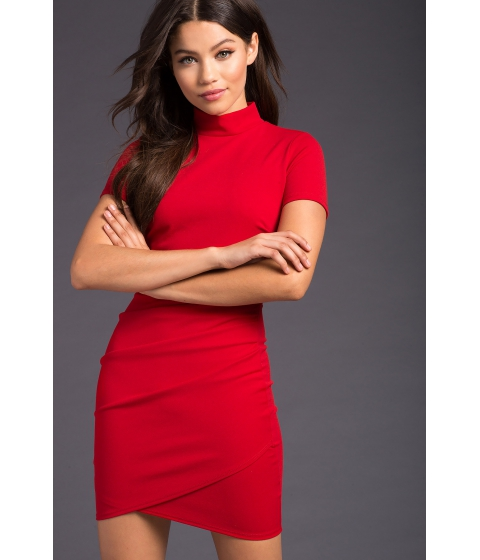 Imbracaminte Femei CheapChic Origami Mock Neck Mini Dress Red