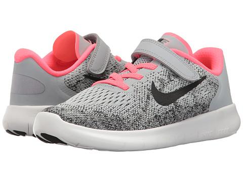 Incaltaminte Fete Nike Free RN 2017 (Little Kid) Wolf GreyBlackRacer PinkWhite
