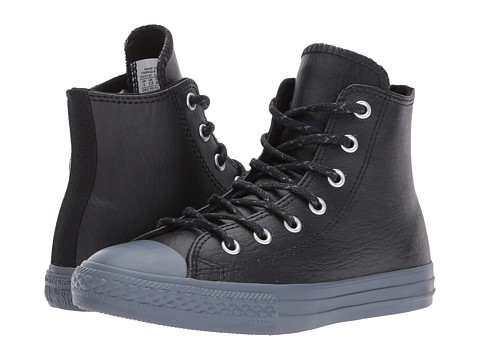 Incaltaminte Baieti Converse Chuck Taylor All Star Leather Thermal - Hi (Little Kid) BlackBlackSharkskin