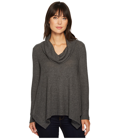 Imbracaminte Femei Bobeau Analia Waffle Knit Top Charcoal Grey