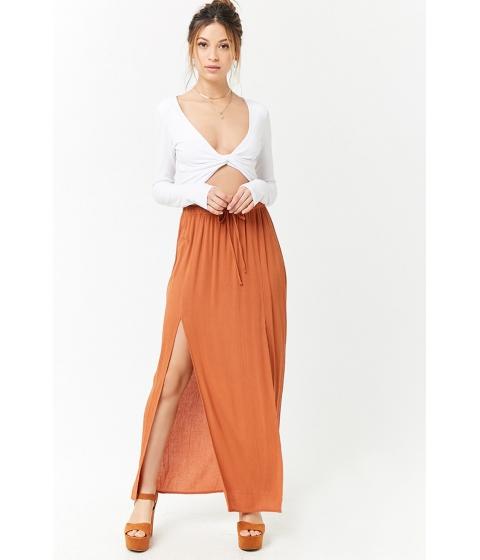 Imbracaminte Femei Forever21 M-Slit Crinkle Maxi Skirt AMBER