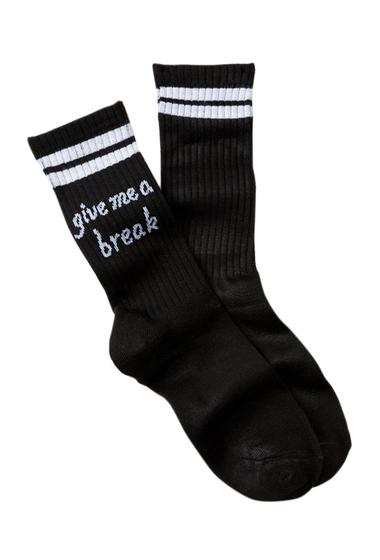 Accesorii Femei Free Press Sporty Tube Crew Socks GIVE ME A BREAK