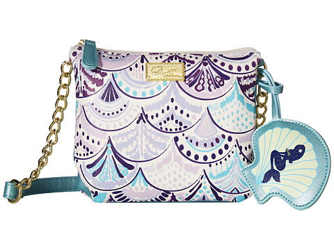 Genti Femei Luv Betsey by Betsey Johnson Double PVC Triple Compartment Crossbody Periwinkle