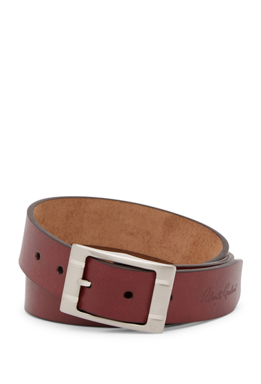 Accesorii Barbati Robert Graham Darrowsville Leather Belt CRANBERRY