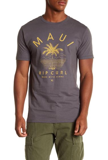 Imbracaminte Barbati Rip Curl Maui Front Graphic Print Standard Fit Tee CHA