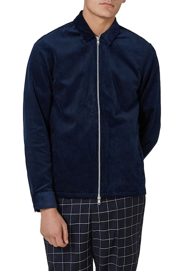 Imbracaminte Barbati TOPMAN Corduroy Shirt Jacket BLUE