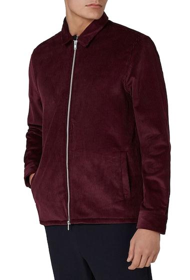 Imbracaminte Barbati TOPMAN Corduroy Shirt Jacket BURGUNDY