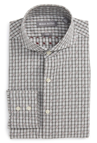 Imbracaminte Barbati MICHAEL BASTIAN Trim Fit Check Dress Shirt GREY