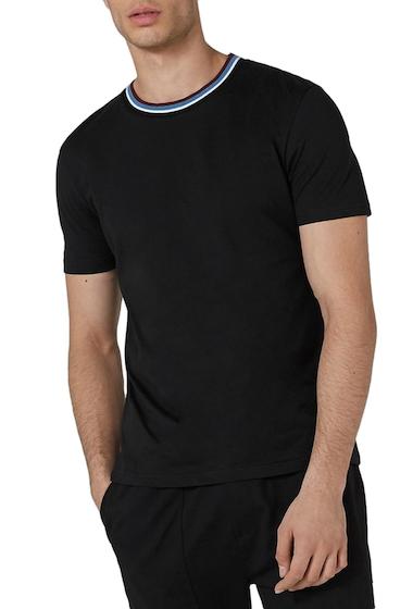 Imbracaminte Barbati TOPMAN Stripe Tipped Ringer T-Shirt BLACK