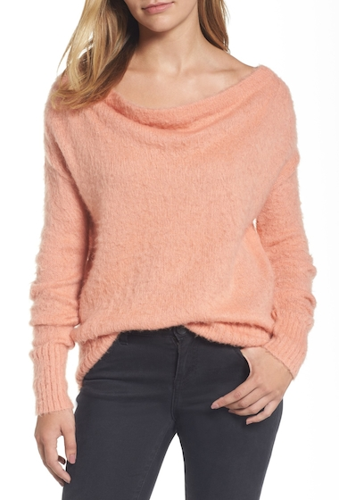 Imbracaminte Femei Caslon Long Sleeve Brushed Sweater CORAL CLAY