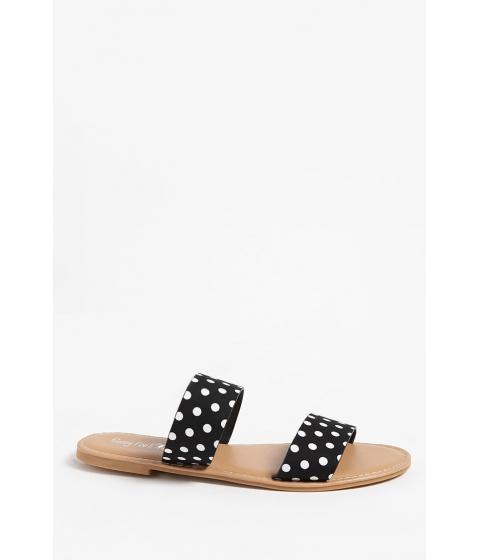 Incaltaminte Femei Forever21 Gingham Double-Strap Sandals WHITEBLACK