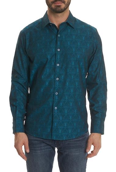 Imbracaminte Barbati Robert Graham Elwood Front Button Classic Fit Print Woven Shirt DARK TEAL