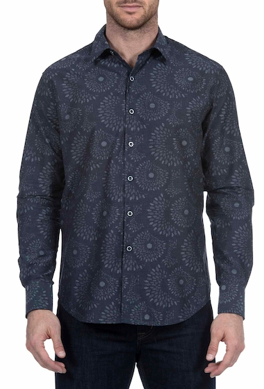 Imbracaminte Barbati Robert Graham Creedance Classic Fit Print Woven Shirt INDIGO