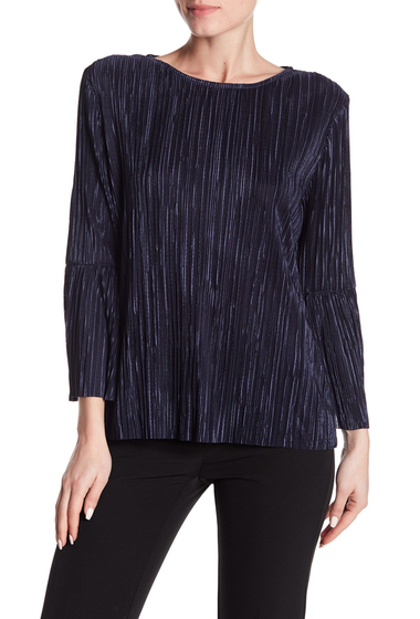 Imbracaminte Femei Vince Camuto Pleated Bell Sleeve Blouse CREW NAVY