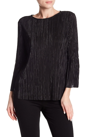 Imbracaminte Femei Vince Camuto Pleated Bell Sleeve Blouse RICH BLACK
