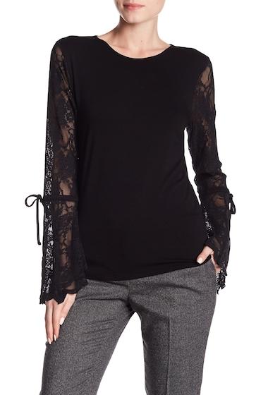 Imbracaminte Femei Vince Camuto Lace Bell Sleeve Blouse RICH BLACK