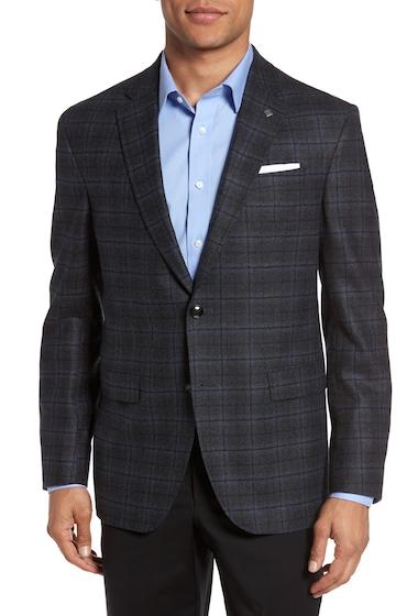 Imbracaminte Barbati Ted Baker London Konan Trim Fit Plaid Wool Sport Coat GREY