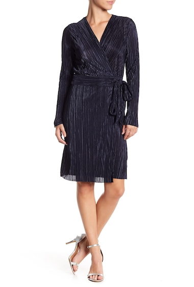 Imbracaminte Femei Vince Camuto Long Sleeve Pleated Wrap Dress CREW NAVY