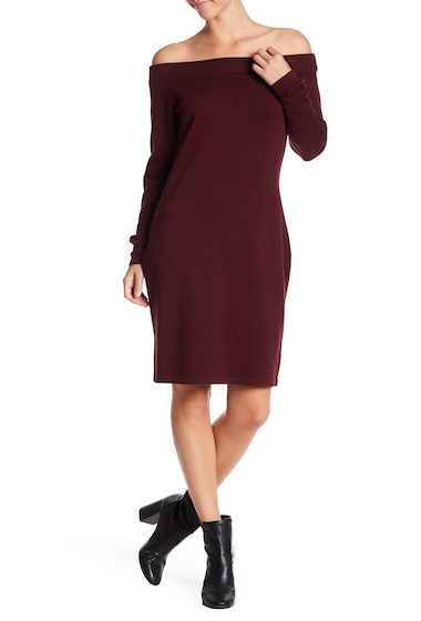 Imbracaminte Femei Vince Camuto Long Sleeve Off-the-Shoulder Sweater Dress DEEP CLARE